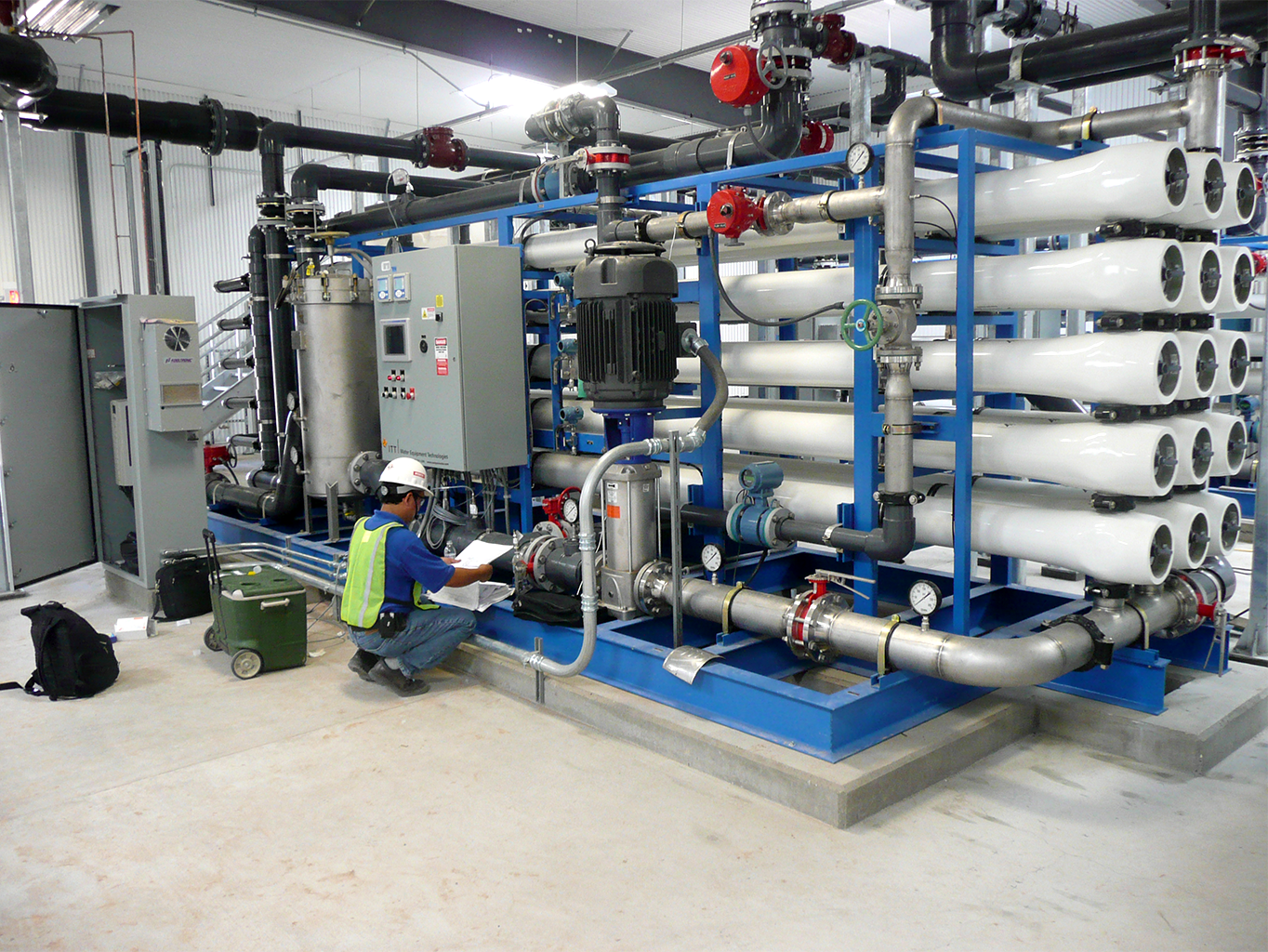 Image showing a large Desalination RO filtration system