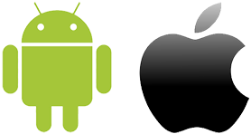 Apple and Android logo icons image