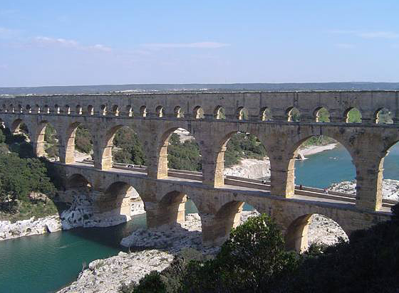Image of an Ancient Roman Aqueduct
