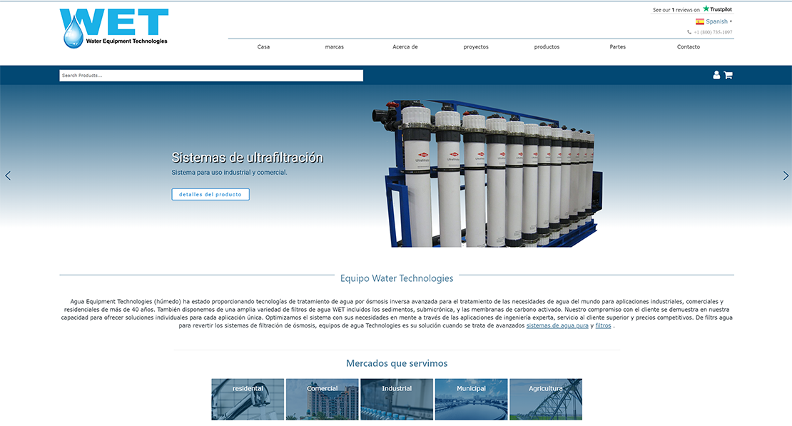 Water Equipment Technologies Spanish.